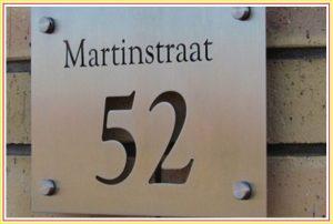 bảng số nhà kim loại