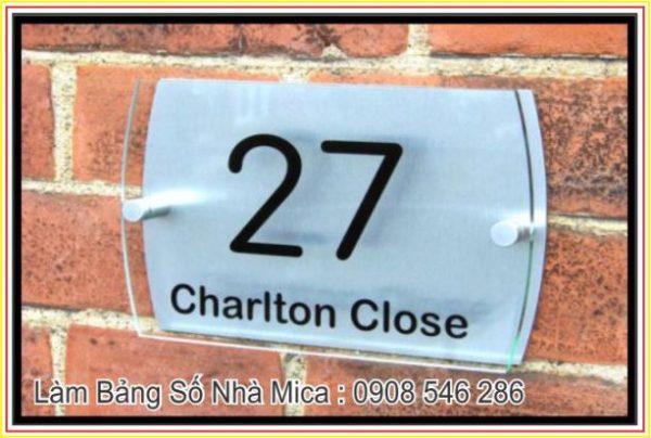 bảng số nhà mica đẹp