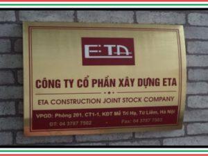 bảng công ty inox ETA