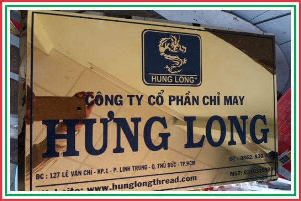 bảng inox công ty hung long
