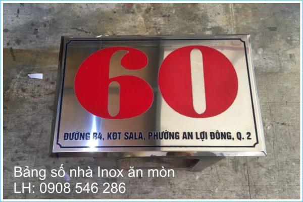 bảng số nhà inox trắng bóng ăn mòn