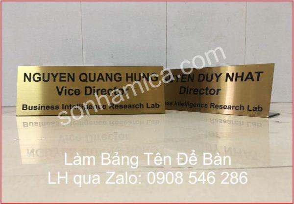 bảng tên để bàn HCM