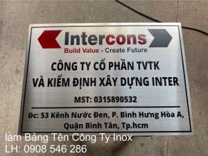 bảng tên công ty inox